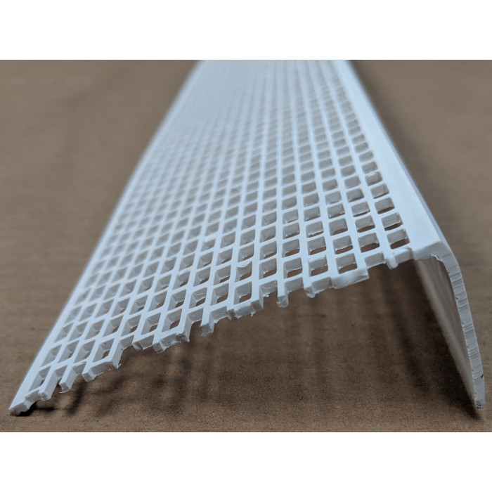 Wemico White PVC Ventilation Angle 70mm x 30mm x 2.5M 1 Length