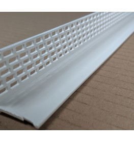 Wemico White PVC Ventilation Angle 25mm x 25mm x 2.5m 1 Length