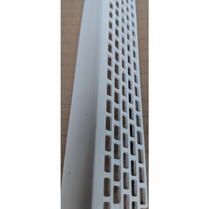Wemico White PVC Ventilation Angle 25mm x 25mm x 2.5m 1 Length