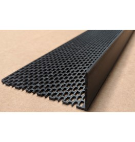 Wemico Black PVC Ventilation Angle 90mm x 30mm x 2.5m 1 Length