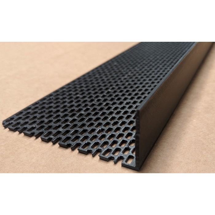 Wemico Black PVC Ventilation Angle 90mm x 30mm x 2.5M (1 Length)