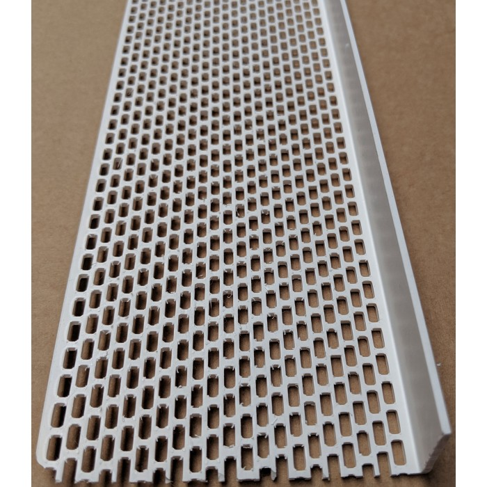 Wemico White PVC Ventilation Angle 90mm x 30mm x 2.5M 1 Length