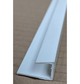 Wemico White PVC Clip on Profile 20mm x 9.5mm x 10mm x 2.5m 1 Length