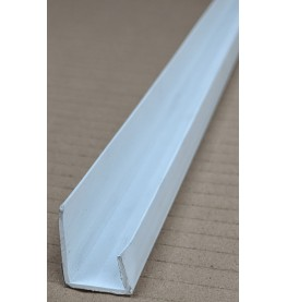 Wemico White PVC Channel Profile 20mm x 12.5mm x 10mm x 2.5m 1 Length