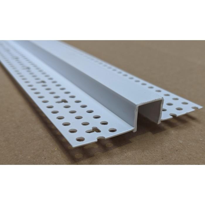 Trim-Tex 12.7mm White PVC Architectural Reveal Bead Profile 3m 1 length AS5110
