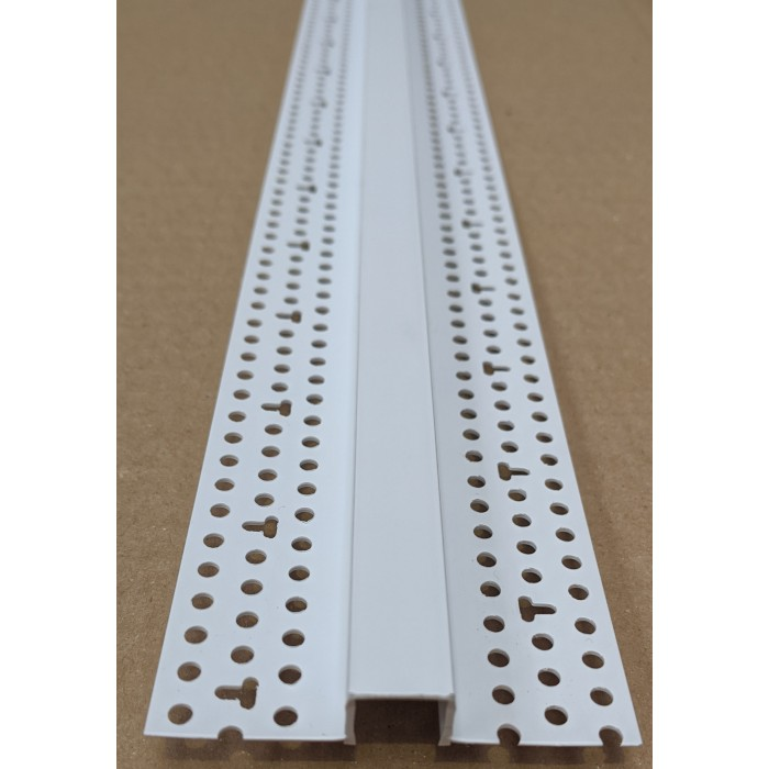 Trim-Tex 12.7mm White PVC Architectural Reveal Bead Profile 3m 1 length AS5110