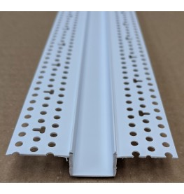 Trim-Tex 20mm White PVC Architectural Reveal Bead Profile 3m 1 length AS5210