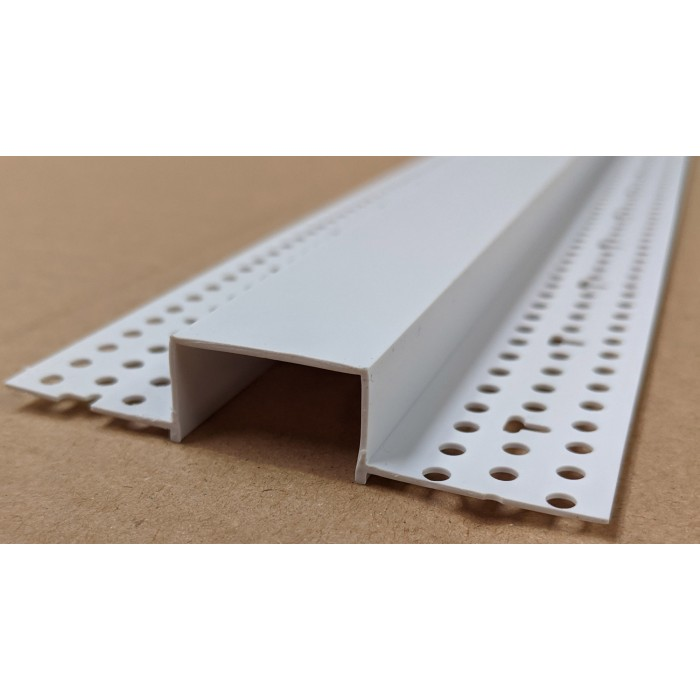 Trim-Tex 12mm x 25mm White PVC Architectural Reveal Bead Profile 3m 1 length AS5310