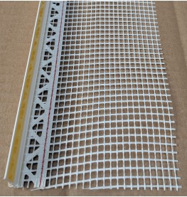 White PVC Self Adhesive Window / Door Frameseal Bead With Mesh 6mm Render Depth 2.6m 1 Length
