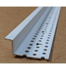 Trim-Tex 6mm Shadow Gap White PVC Feature Bead Profile 12.5mm x 6mm x 305cm 1 length AS5410