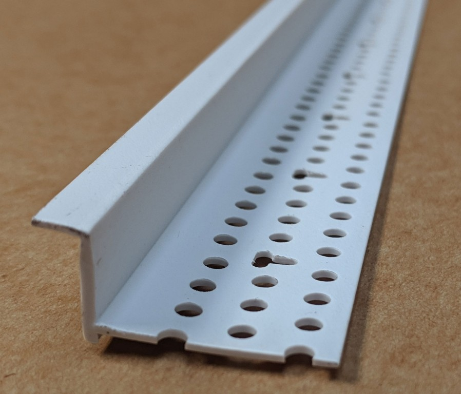 Trim-Tex 6mm Shadow Gap White PVC Feature Bead Profile 12 5