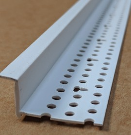Protektor 6mm Shadow Gap White PVC Feature Bead Profile 12.5mm x 6mm x 305cm 1 length
