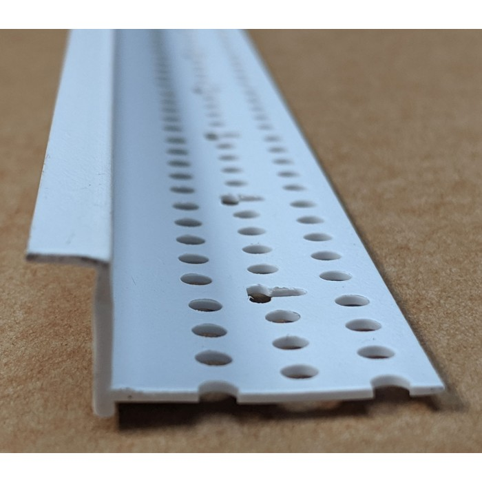 Trim-Tex 6mm Shadow Gap White PVC Feature Bead Profile 12 5mm x 6mm x 305cm  1 length AS5410