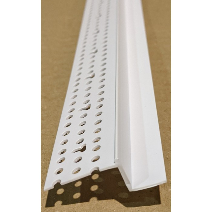 Trim-Tex 12mm Shadow Gap White PVC Feature Bead Profile 12.5mm x 12mm x 305cm 1 length AS5510