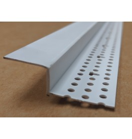 Trim-Tex 20mm x 12.7mm White PVC Shadow Feature Bead Profile 3m 1 length AS5610