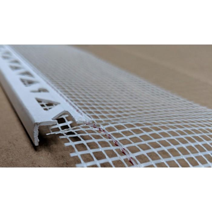 White PVC Stop Bead with Fibre Glass Mesh 11mm Render Depth 2.5m 1 length