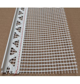 White PVC Stop Bead with Fibre Glass Mesh 14mm Render Depth 2.5m 1 length