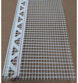 White PVC Stop Bead with Fibre Glass Mesh 3mm Render Depth 2.5m 1 length