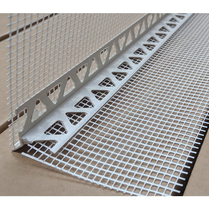 Wemico PVC Water Balcony Drip Bead with Mesh 6mm x 25mm x 10mm Render Depth x 25mm x 2.5m 1 Length