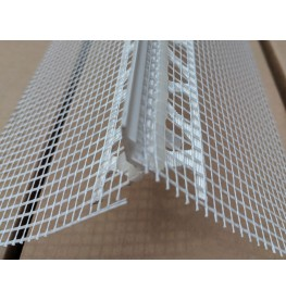 Wemico PVC Water Balcony Drip Bead with Mesh 6mm x 25mm x 6mm Render Depth x 25mm x 2.5m 1 Length