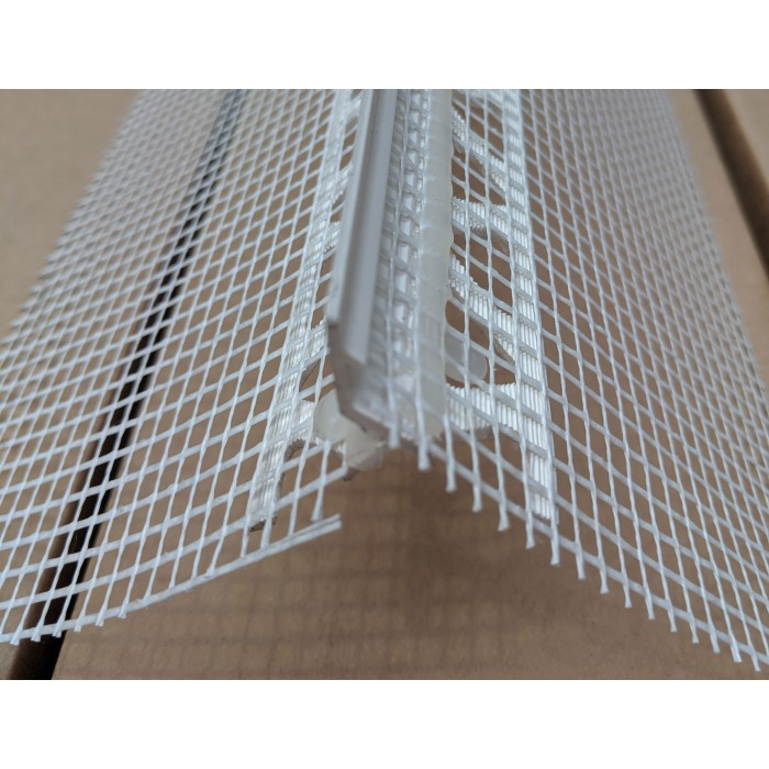 Wemico PVC Water Balcony Drip Bead with Mesh 6mm x 25mm x 6mm x 25mm x 2.5m 1 Length