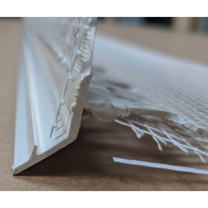 Wemico PVC Water Balcony Drip Bead with Mesh 6mm x 25mm x 10mm Render Depth x 25mm x 2.5m 1 Length