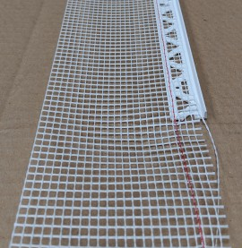 White PVC Stop Bead with Fibre Glass Mesh 6mm Render Depth 2.5m 1 length