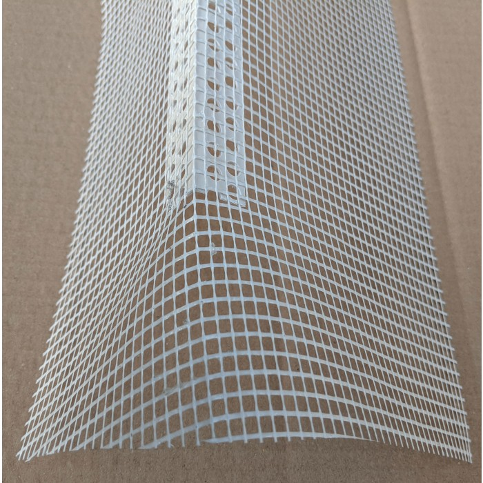 Thin Coat PVC Corner Bead With Glass Fibre Mesh 2.5m 1 Length