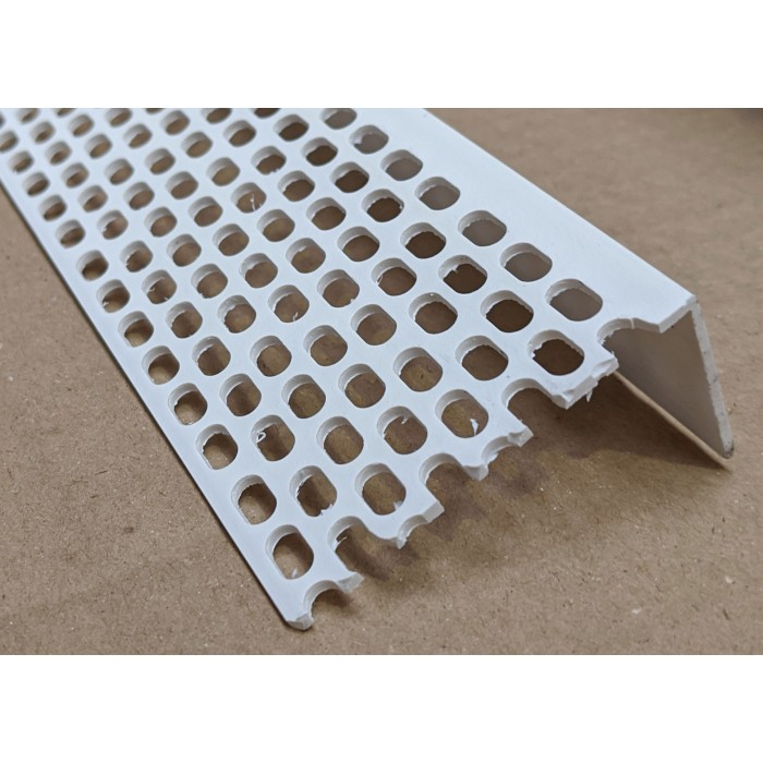 Wemico 30mm x 60mm x 2.5m White PVC Ventilation Angle (1 length)