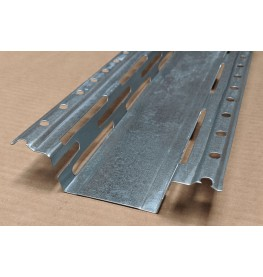 Protektor Galvanised Steel Resilient Bar 60mm x 27mm x 0.6mm 3m 1 Length