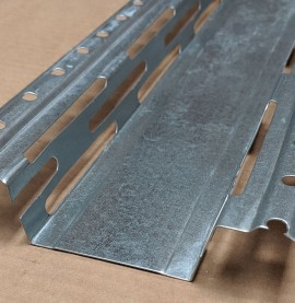 Protektor Galvanised Steel Resilient Bar 60mm x 27mm 1 Length
