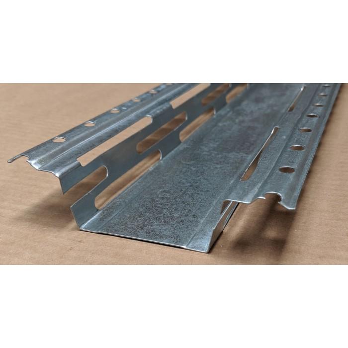 Protektor Galvanised Steel Resilient Bar 60mm x 27mm x 0.6mm 4m 1 Length
