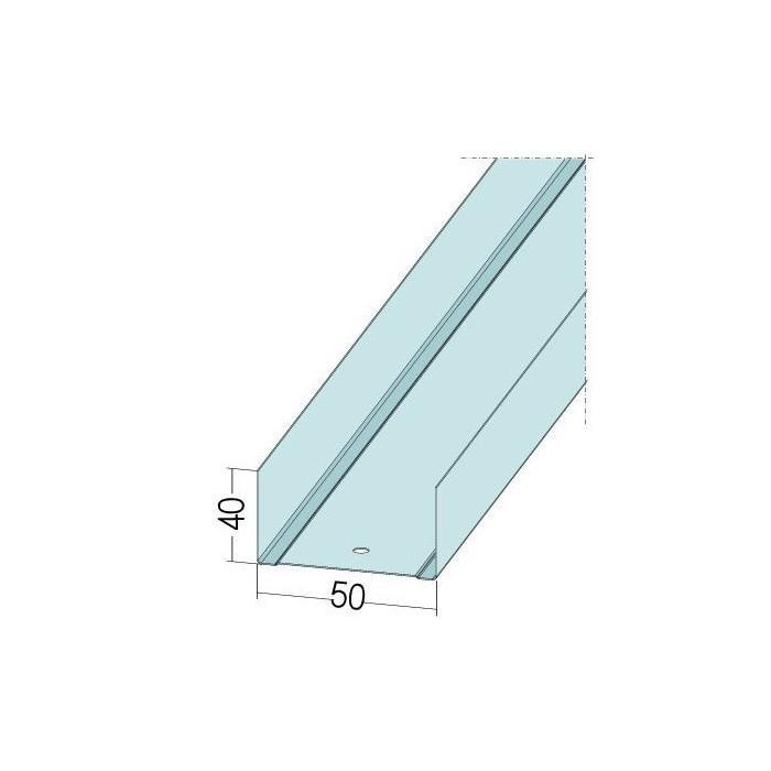 Protektor Galvanised Steel DIN Standard Track Profile 40mm x 50mm x 40mm x 0.6mm 4m 1 Length