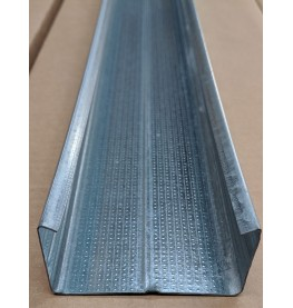 C Ceiling Profile with Square Return 27mm x 60mm x 3.6m 1 Length