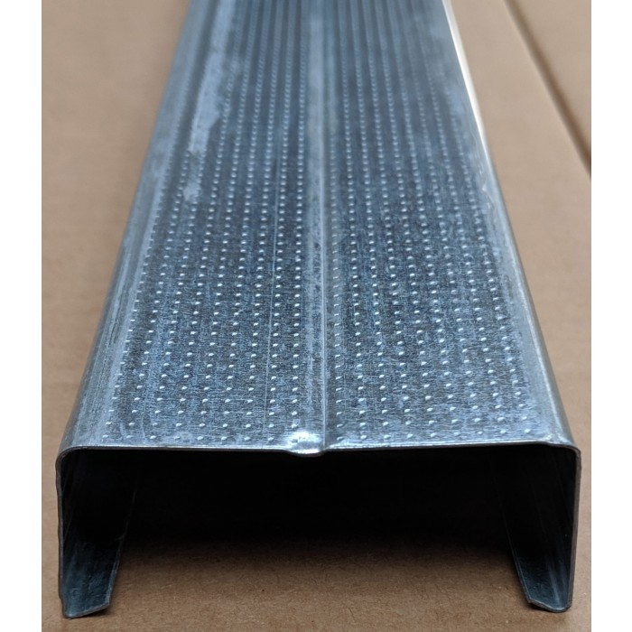 C Ceiling Profile with Square Return 27mm x 60mm x 4m 1 Length