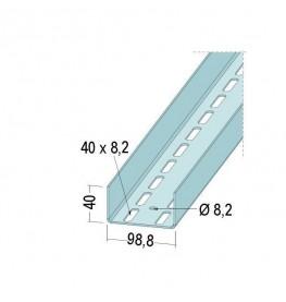 Protektor Galvanised Steel Door Reinforcement Profile 98.8mm x 2mm x 4m