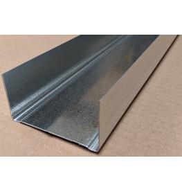 Protektor Galvanised Steel U Wall DIN Standard Track Profile 40mm x 75mm x 40mm x 4m 1 length