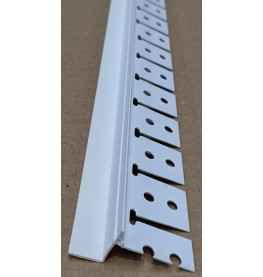 Trim-Tex Tear Away White PVC Archway Bead with Flexible Leg 13mm x 13mm x 3.05m AS5560T
