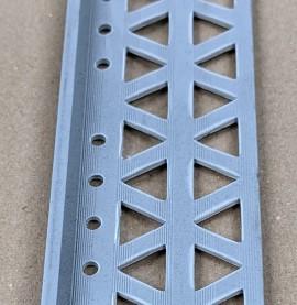 Dark Grey 6 - 8mm Render Depth PVC Stop Bead 42mm x 2.5m 1 Length