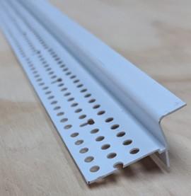 Trim-Tex Tear Away White PVC Shadow Bead with Flexible Leg 9.5mm x 9.5mm x 3.05m 5520T