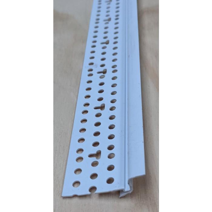 Trim-Tex Tear Away White PVC Shadow Bead with Flexible Leg 6.3mm x 6.3mm x 3.05m 5530T