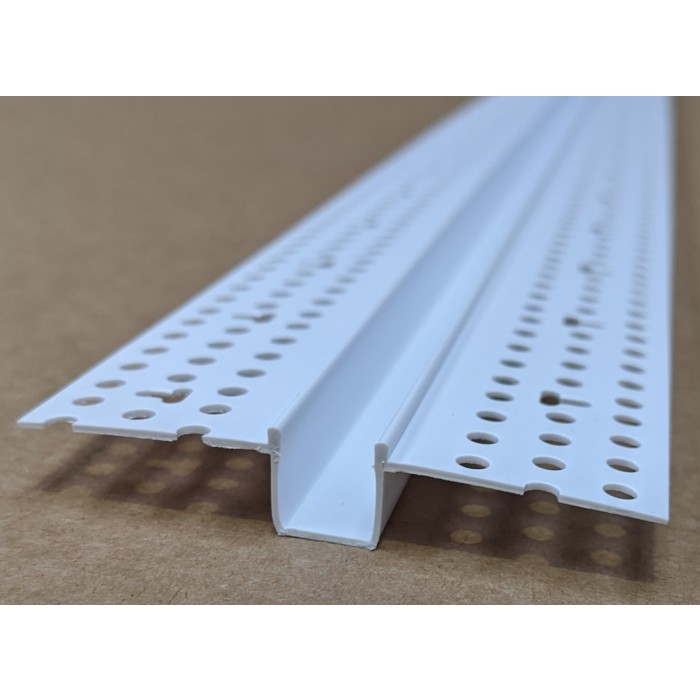 Trim-Tex 10mm White PVC Architectural Reveal Bead Profile 3m 1 length AS5130