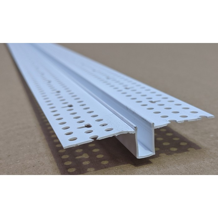 Trim-Tex 13mm x 6mm White PVC Architectural Reveal Bead Profile 3m 1 length AS5160
