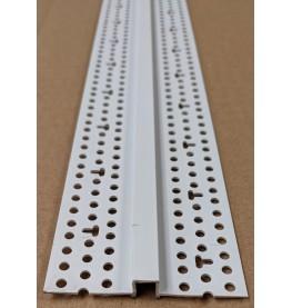 Trim-Tex 6.35mm White PVC Architectural Reveal Bead Profile 3m 1 length AS5150