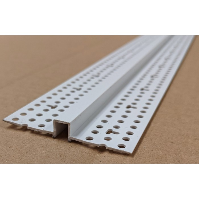 Trim-Tex 6.35mm White PVC Architectural Reveal Bead Profile 3m 1 length AS5150
