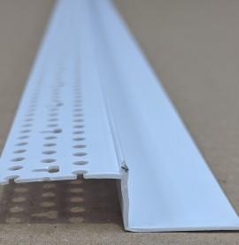 Trim-Tex 25mm x 12.7mm White PVC Shadow Feature Bead Profile 3m 1 length AS5650