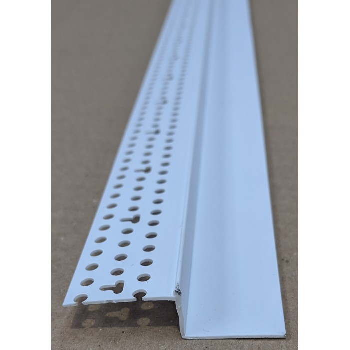 Trim-Tex 25mm x 12.7mm White PVC Shadow Feature Bead Profile 3m 1 length AS5650