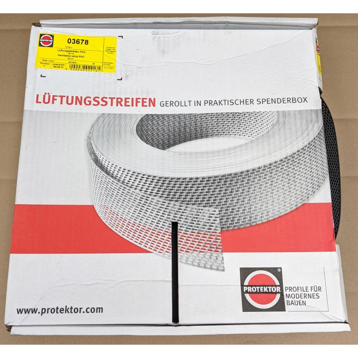 Protektor 80mm PVC Black Ventilation Strip 60m Roll SALE