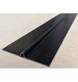 Aluminium Black Finish Bird Beak Joint Profile 1 length 62mm x 6mm x 6mm x 2.5m