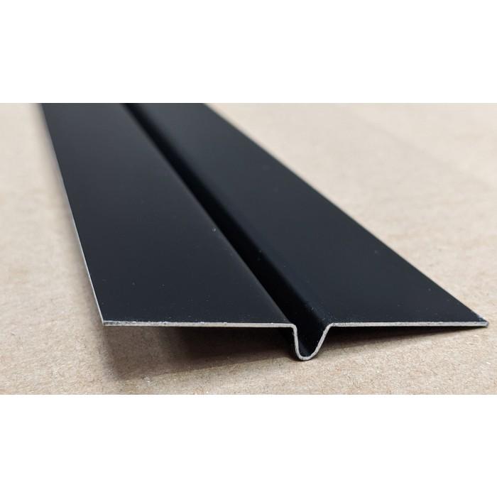 Aluminium Black Finish Bird Beak Joint Profile 1 length 62mm x 6mm x 6mm x 3m